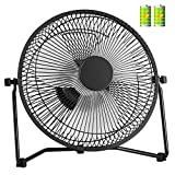 COMLIFE 11 Inch Battery Powered Desk Fan USB Table Fan, Rechargeable Portable Fan with 4400mAh...