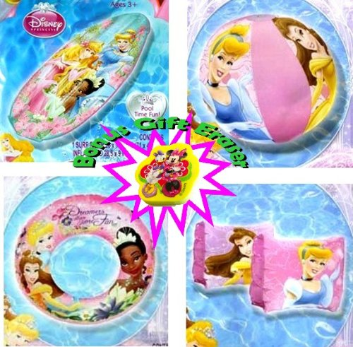 (4-piece Disney Princess Pool Toys Set - Disney Princess Beach Ball (12