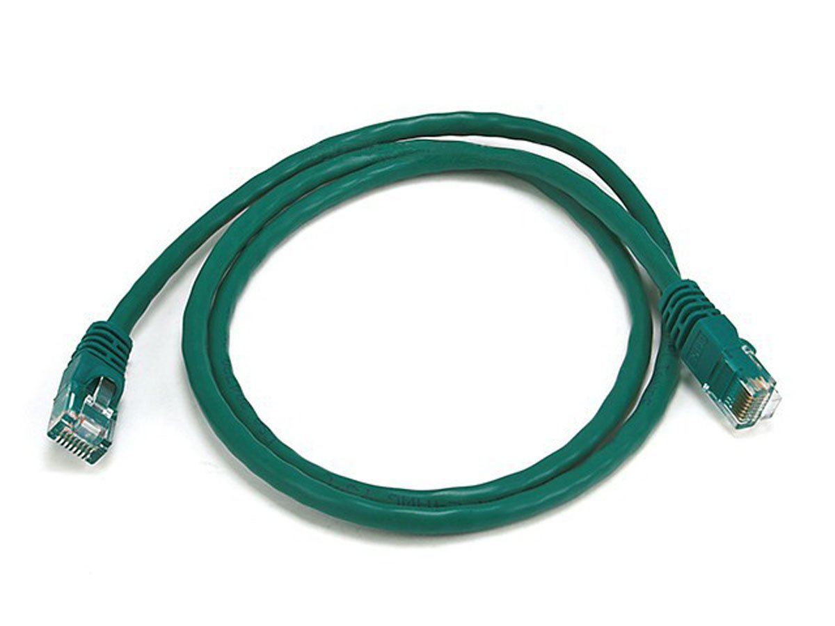Monoprice 3FT 24AWG Cat5e 350MHz UTP Bare Copper Ethernet Network Cable Green