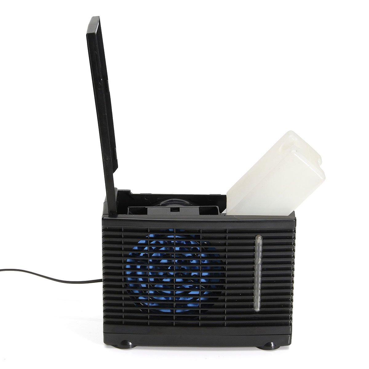 GOZAR 24V Portable Home Car Refrigerador Refrigeración Ventilador Agua Hielo Aire Acondicionado Evaporativo: Amazon.es: Hogar