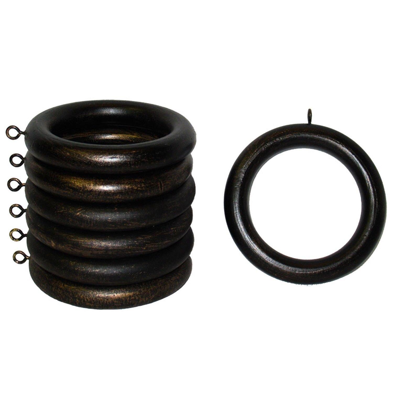 2 in。アンティークブロンズ木製リングのセット7 for use with 2 in。または直径2 1 / 4インチPole B00IPUB4J8