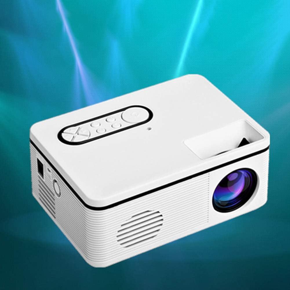 Soldmore7 Mini Projecteur 1080P HD Home Cin/éma Vid/éo Divertissement Ordinateur Portable Smartphone Mini Projecteur Vid/éoprojecteur LED Portable Home Cin/éma Blanc. N/° 0 eu-stecker