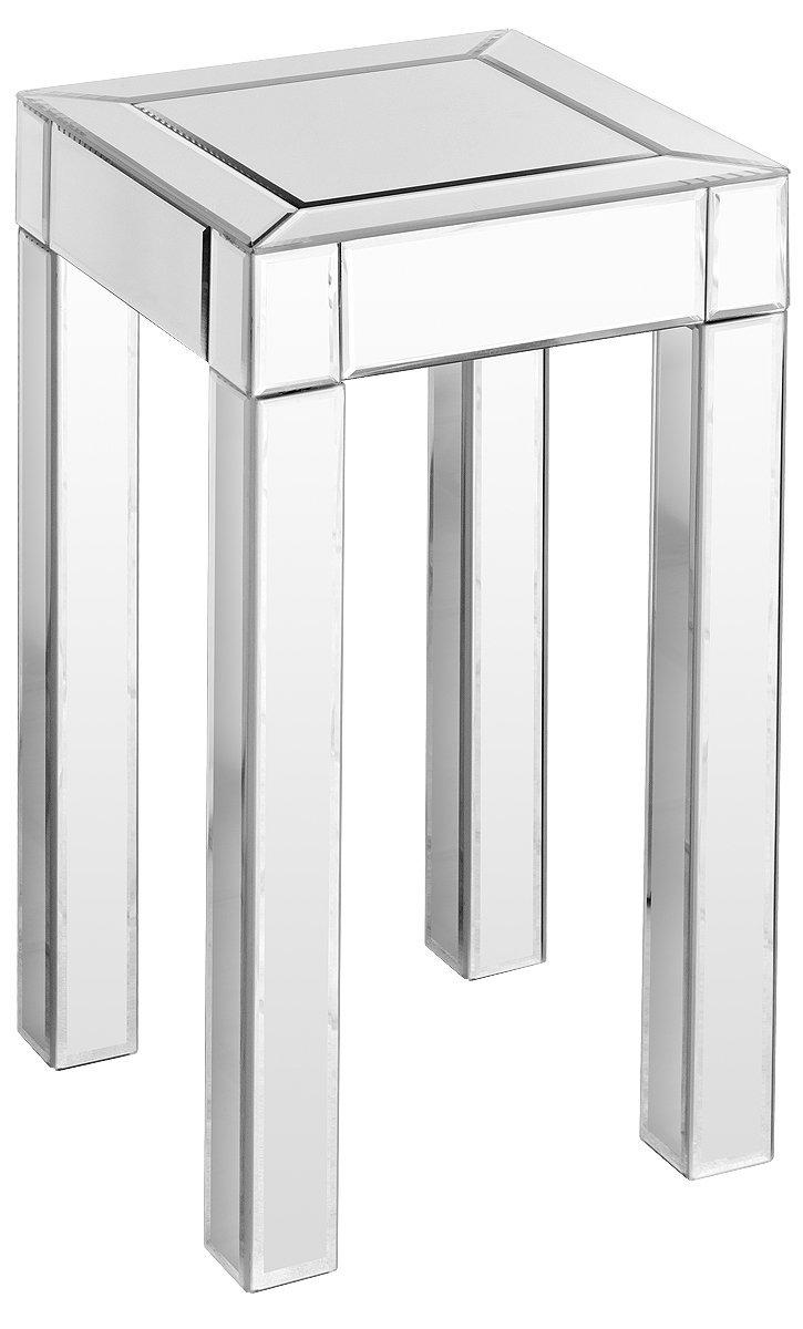 Febland Mirrored Pedestal Table, Glass, Small FM275S