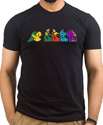 Pac-Man & Zelda T-Shirt Men's Mash Up Gaming Tee - S to 5XL