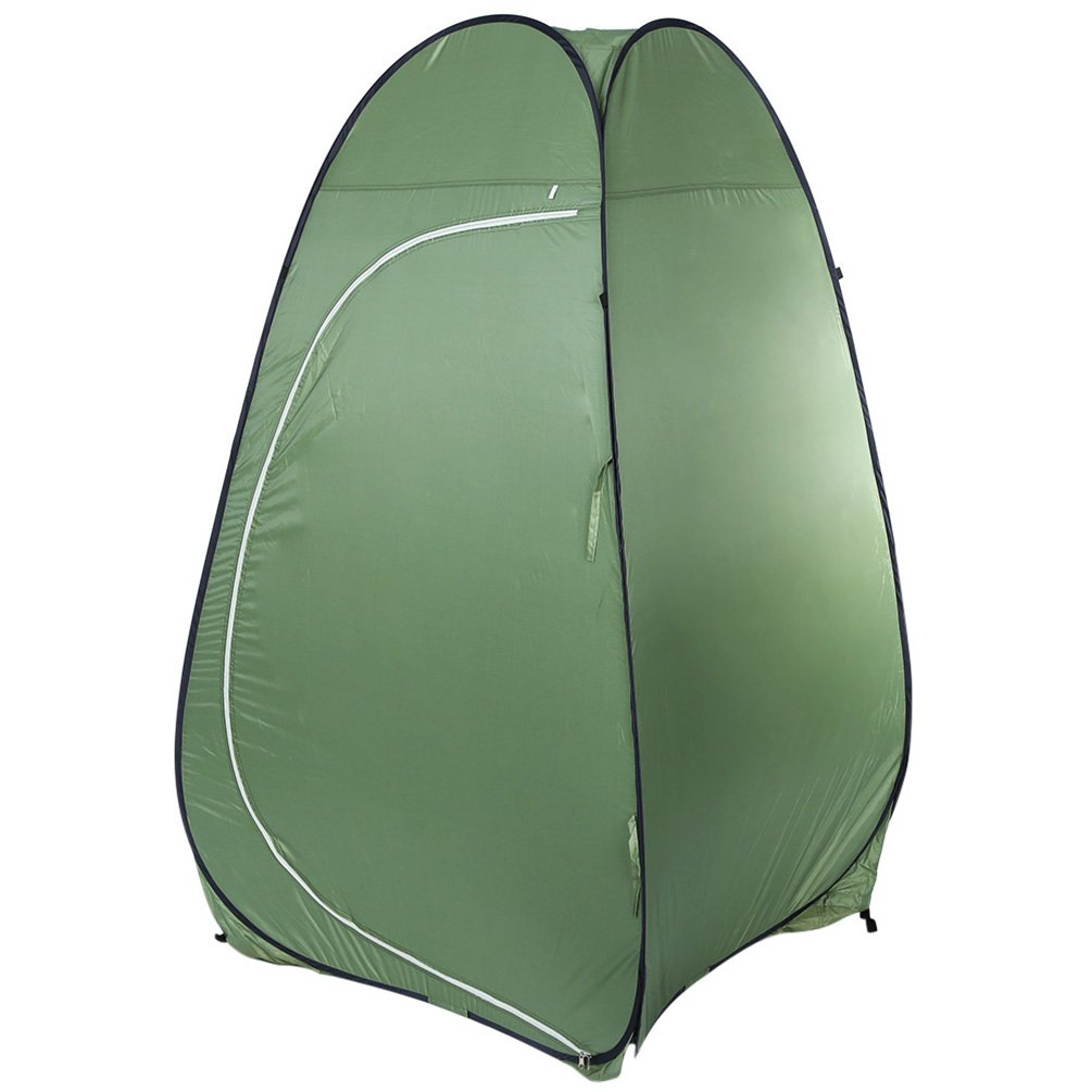 RUNACC Waterproof Privacy Tent Portable Pop up Changing Tent Outdoor Dressing Room Nylon Shower Tents with Storage Bag, Suitable for Camping and Hiking, Army Green