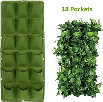 Sac Suspendu Pot Mural 9-poches pr Plante Intérieur Extérieur Noir