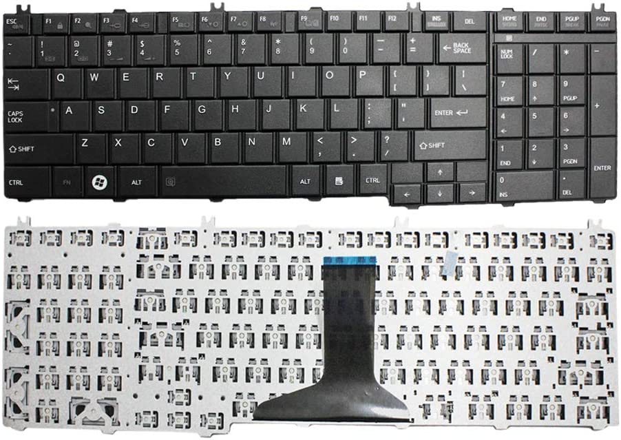 GinTai Laptop US Keyboard Replacement for Toshiba Satellite L775D-S7223 L775D-S7224 L775D-S7226 L775-S7245 L775-S7248 L775-S7250 L770D-ST6NX1 L775D-S7107 L775D-S7108 L775D-S7110