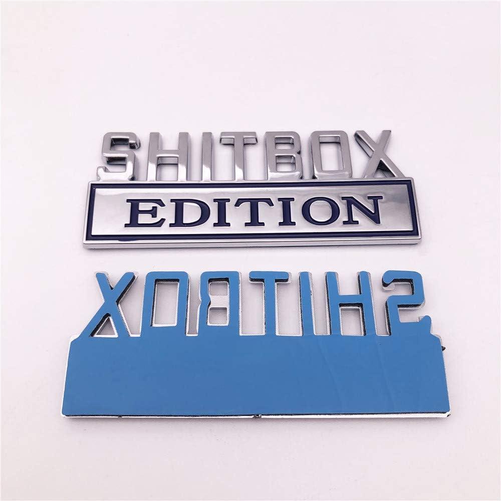 1PC Chrome SHITBOX Edition Emblem Badge Sticker for GMC Chevy Car Truck