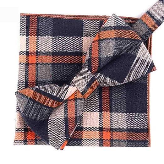 Hjyi Conjunto de Corbata de algodón para Hombre, Corbata de Lazo ...