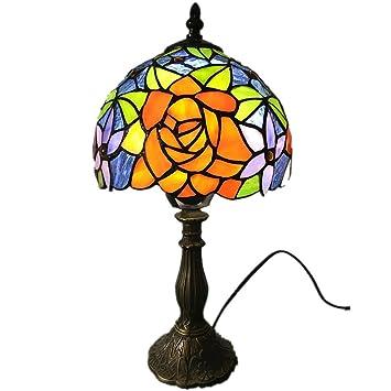 LZQTD Lámparas de Mesa Estilo Tiffany, Mesa de Comedor, Mesa ...