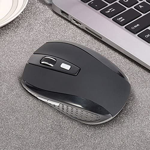 MeterMall New 2.4GHZ Portable Wireless Mouse Cordless Optical Scroll Mouse for PC Laptop red