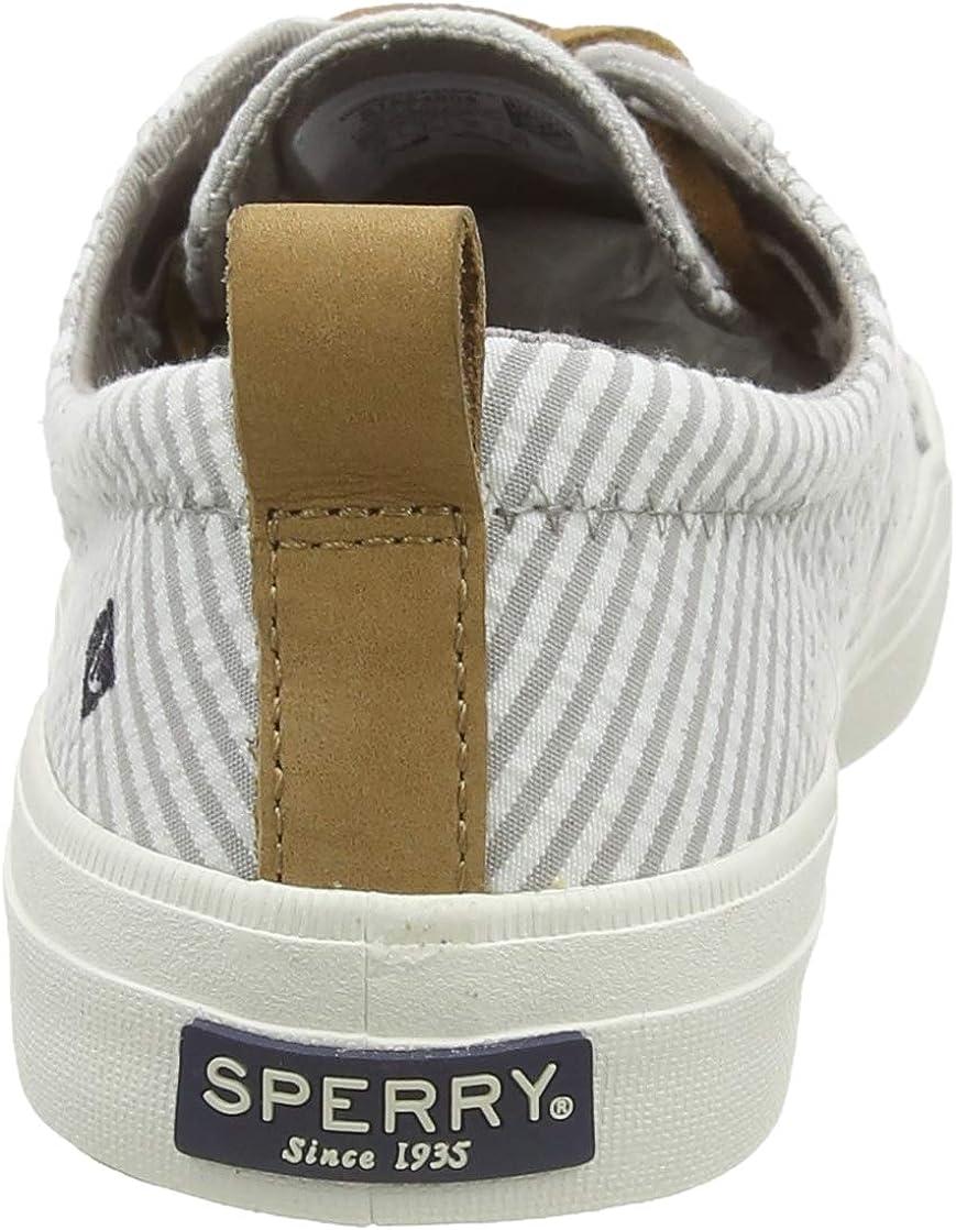 Sperry Top-Sider Crest Vibe, Basket Femme Gris Blanc