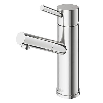 VIGO Noma Single Lever Basin Bathroom Faucet, Brushed Nickel ...