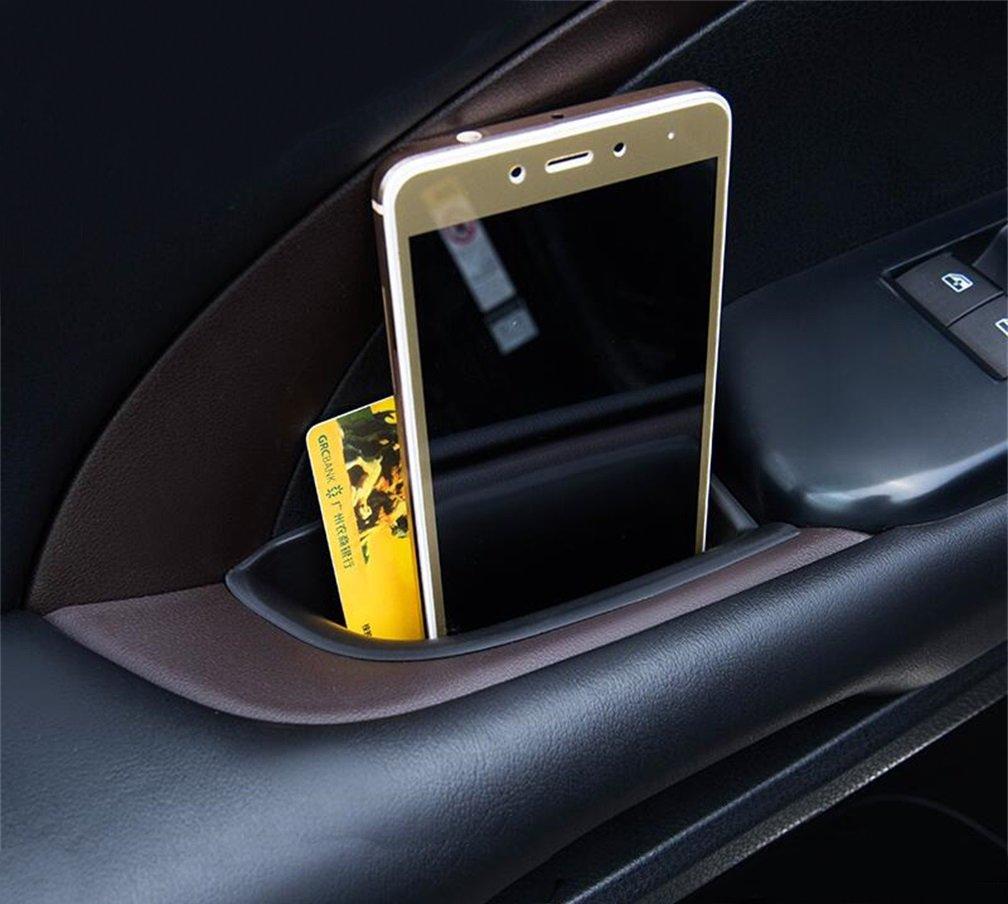 Vesul Black 4pcs Door Side Storage Box Handle Pocket Armrest Phone Container Fits on Toyota Highlander 2014 2015 2016 2017 2018 2019