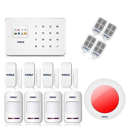 KERUI G18 alarma casa teclado inalámbrico G18 GSM con sirena interior, detectores de apertura/