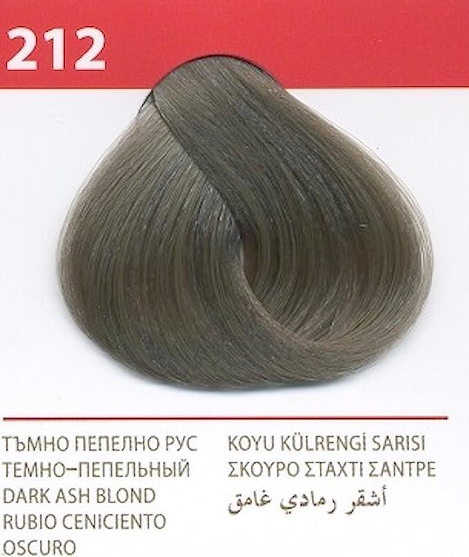 Vips prestige crema colorante para el cabello, color rubio ceniciento oscuro 212
