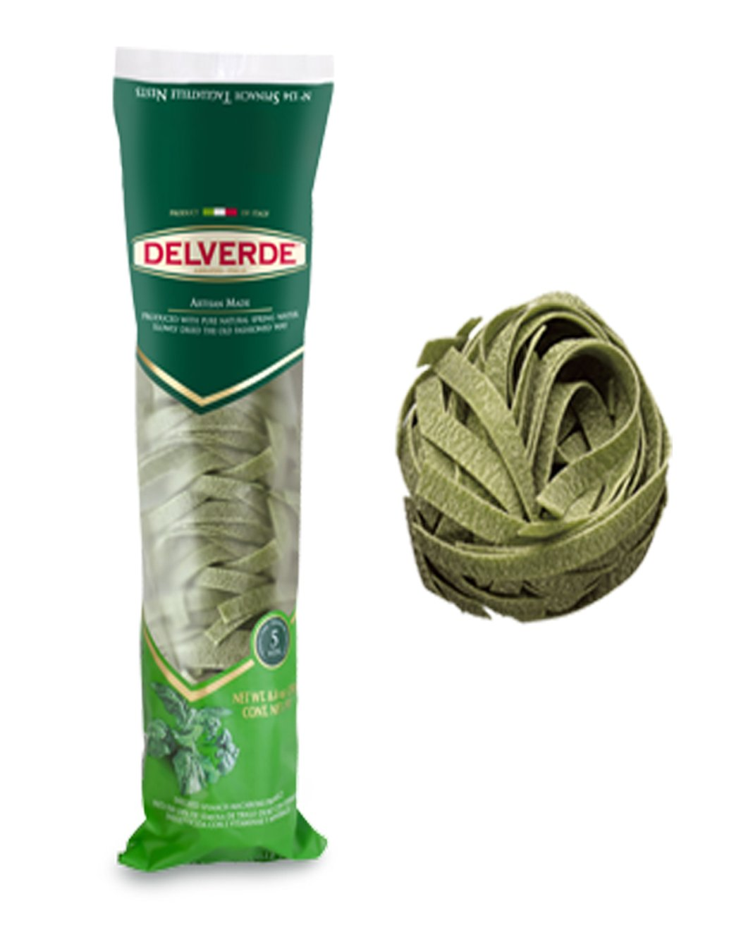 Delverde Spinach Tagliatelle 8.8 OZ (Pack Of 12) by Delverde