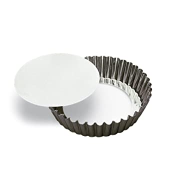 SCI Scandicrafts Fluted Deep Tart/Quiche Mold, Removable Bottom 10-inch Diameter by 2-inch Deep
