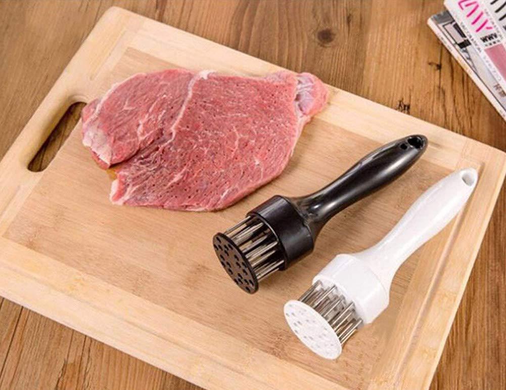 YHBH Edelstahl Nadel Küchenmesser Professionelle Koch Fleisch Tenderizer Tool Tool Tool Fusion-Handle Design Ist Bequemer( 2pc B07JJ9D1RZ Fleischhmmer & -klopfer 6b2a7c