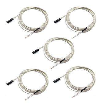 Amazon.com: Tegg NTC 3950 - 5 sensores de temperatura de 100 ...
