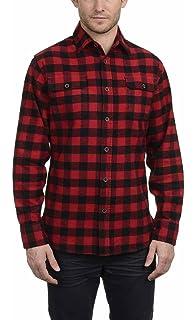 ba35d7ec8d9f42 Jachs Men's 9oz Cotton Flannel Brawny Flannel Shirt Button Down ...