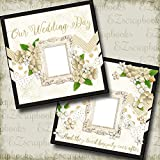 WEDDING - COVERS - Premade Scrapbook Pages - EZ Layout 668