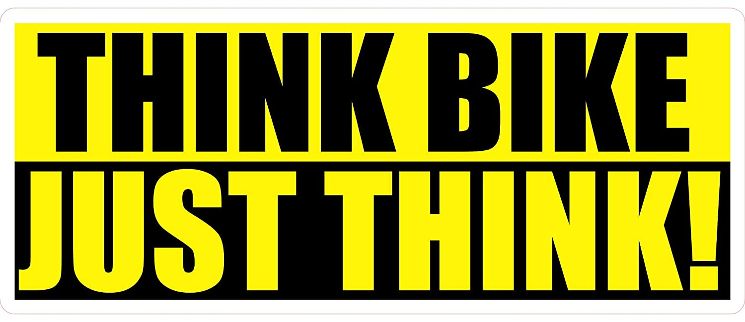 1 x Think Bike Just Think Sticker Cycle Bicycle Motorcycle Scooter Moped Nicker-A-Sticker