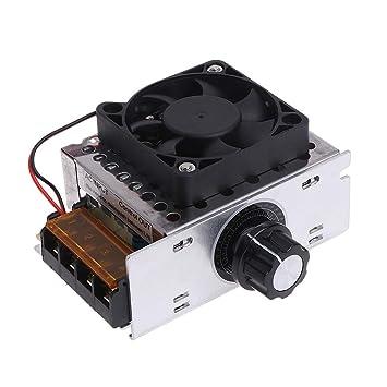 BIlinli CA 220 V 4000 W SCR Regulador de Voltaje Variable Motor Controlador de Control de Velocidad Ventilador Estufa Eléctrica Calentador de Agua Motor: ...