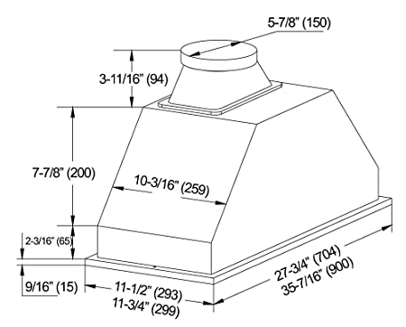 Amazon Com Kobe Range Hoods Inx2936sqbf 500 1 Built Ininsert Range