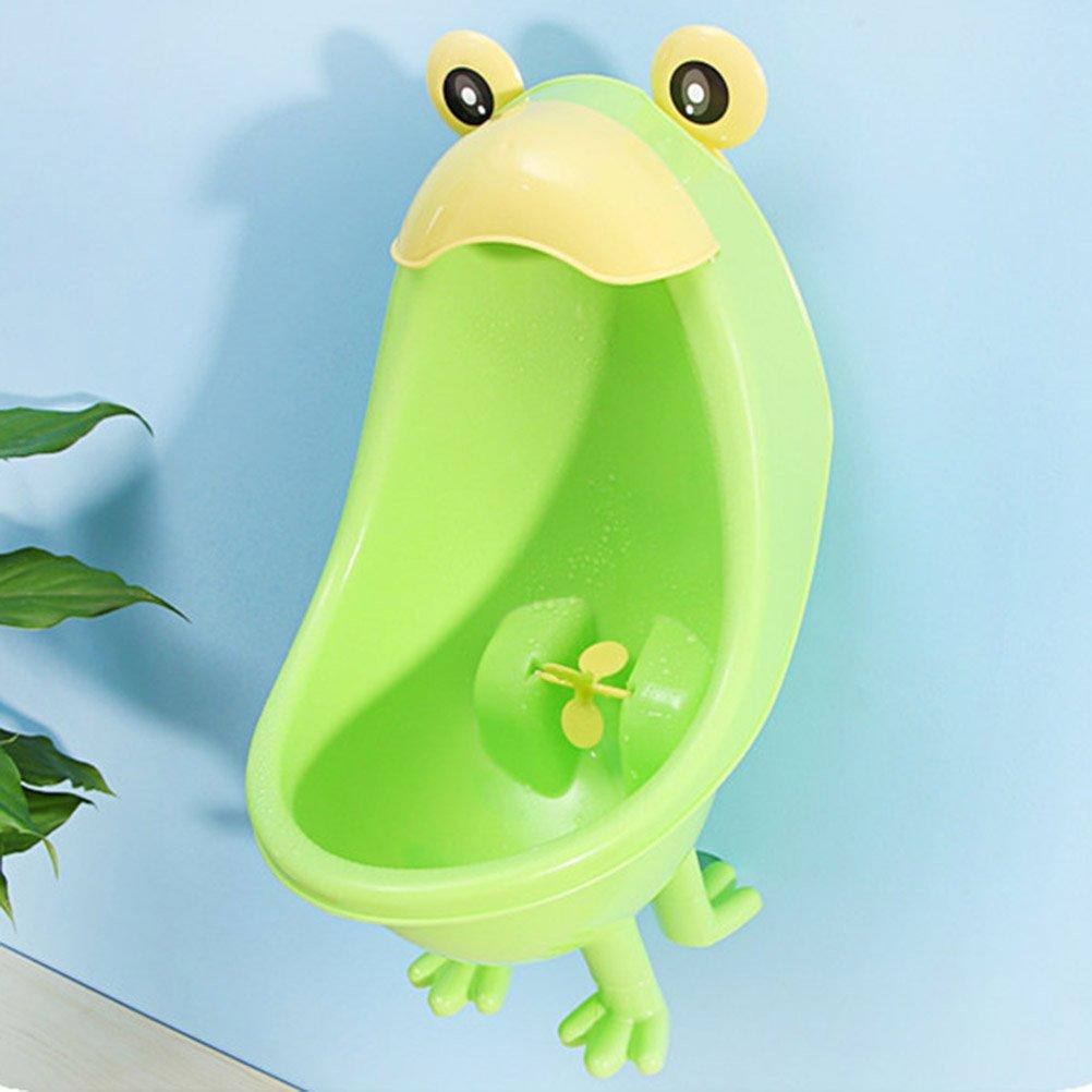 YeahiBaby Urinario para Ni/ños de Rana Entrenamiento para Pee Trainer Verde