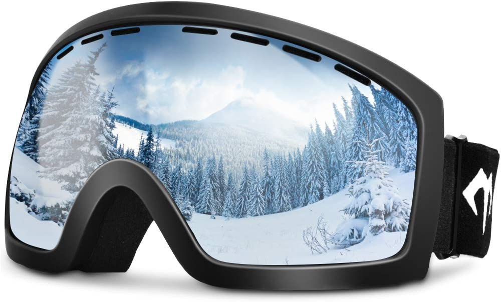 MARSQUEST Ski Goggles for Men Women Anti-Fog Snowboard Goggles with Fast Dry Foams, UV400 Protection, Helmet Compatible Snow Goggles with Double Lens, Durable TPU Frame for Safety