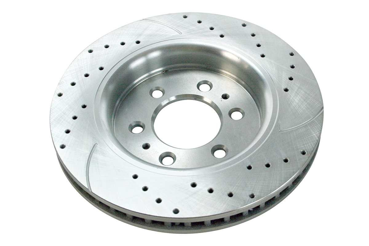 Prime Choice Auto Parts PR64155DSZPR Front Set 2 Performance Silver Drilled Slotted Rotors 6 Stud