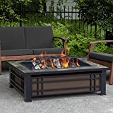 Hamilton Rectangular Wood-Burning Fire Pit
