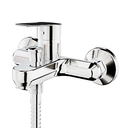 GALINDO Albos 7121000 Grifo monomando bañera Baño-ducha con accesorios de ducha, Cromo