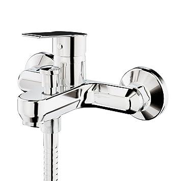 GALINDO Albos 7121000 Grifo monomando bañera Baño-ducha con accesorios de ducha, Cromo: Amazon.es: Bricolaje y herramientas