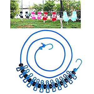 Travel Elastic Clothesline Pamty Portable Adjustable Clothesline Windproof  Clothesline Rope With Clothespins Upgrade Retractable Clothesline For  Outdoor And ...