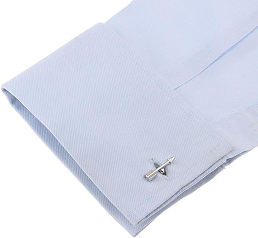 Beydodo Gemelos para Camisa Cobre Gemelo Hombre Gemelo Flecha Gemelo Camisa para Hombre Plata: Amazon.es: Joyería