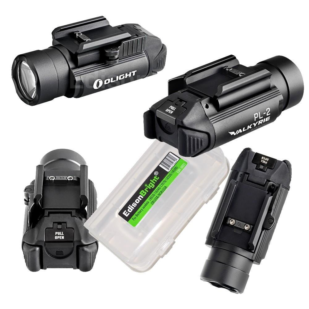 EdisonBright Olight PL-2 (PL2) 1200 lumen LED weapon/pistol light with battery carry case bundle by EdisonBright (Image #4)