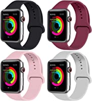 ATUP Sport Band Compatible with for Apple Watch Band 44mm 40mm 42mm 38mm, Soft Silicone Strap Replacement iWatch Bands...