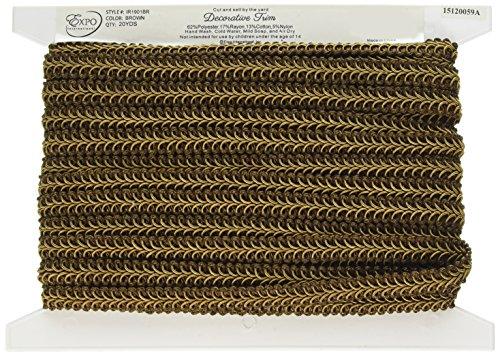 Expo International Alice Classic Woven Braid Trim, 20-Yard, Brown
