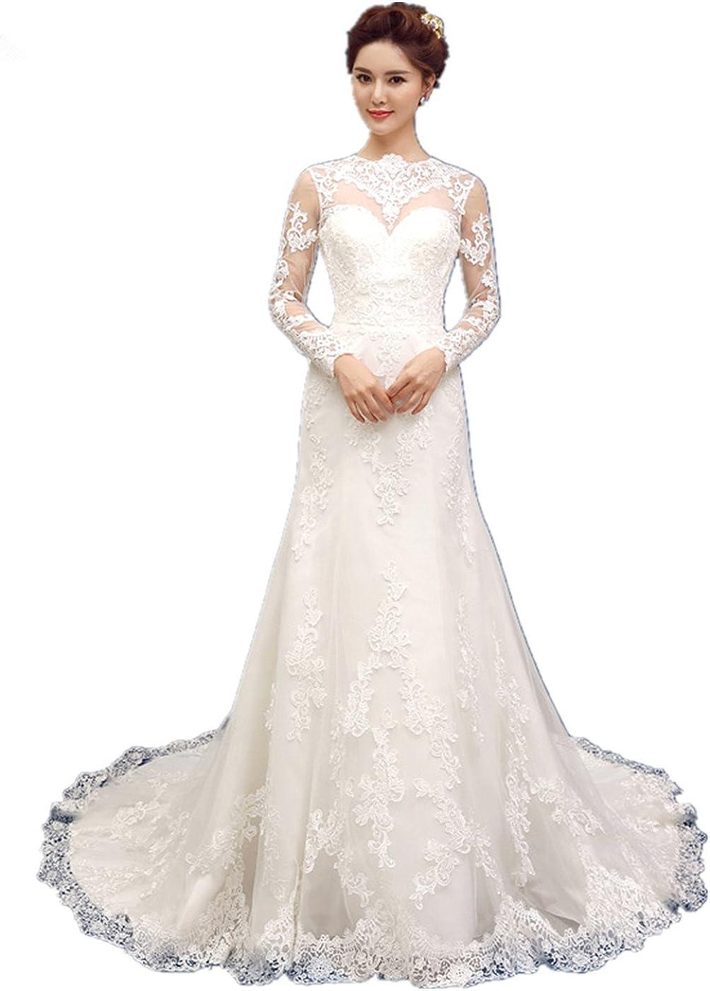 Lemandy Femme Trap/èze Robe de Mariage