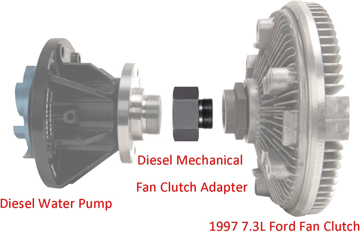 7.3L Powerstroke Diesel Engines 2003-2007 7.3L Diesel Mechanical Fan Clutch Adapter for Ford 6.0L 6.0L