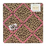 Cheetah Girl Pink and Brown Fabric Memory/Memo Photo Bulletin Board by Sweet Jojo Designs