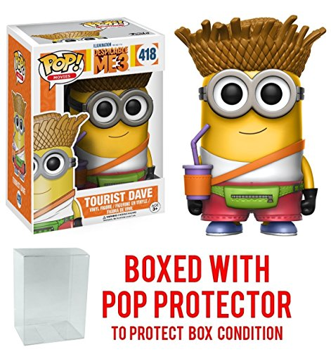 Funko Pop! Movies: Despicable Me 3 - Tourist Dave Vinyl Figure (Bundled with Pop BOX PROTECTOR CASE)