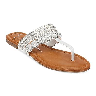 Jessica Simpson Women's Roelle Dress Sandal (6 B(M) US, Powder Yamika