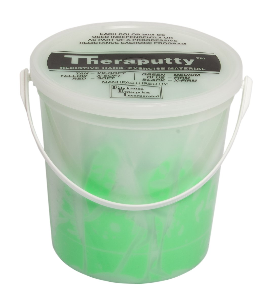 CanDo TheraPutty Standard Exercise Putty, Green: Medium, 5 lb