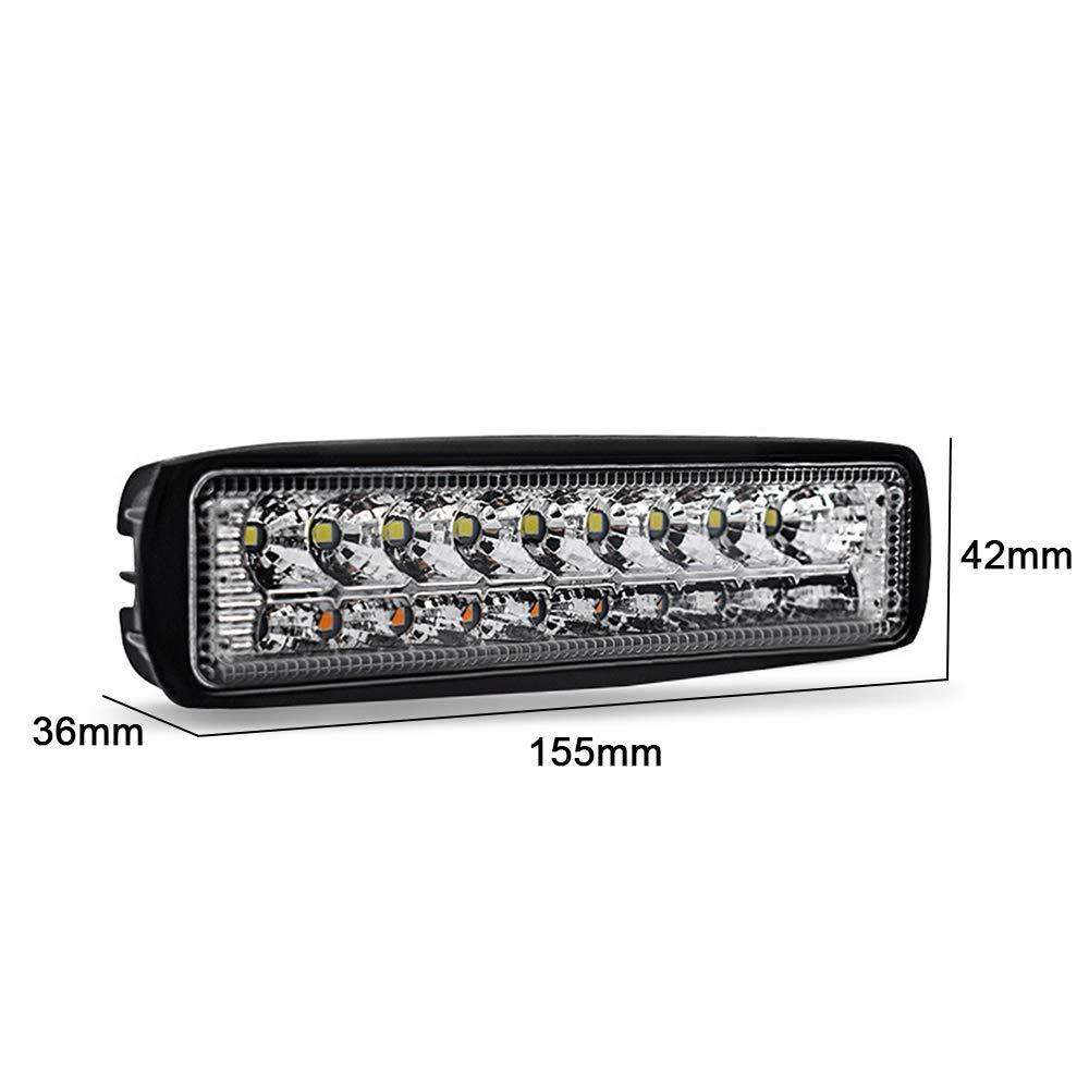 Blackr Led Worklight 54W Dual Color Flood Spot Combo barra chiara impermeabile di guida Off Road della lampada per SUV camion ATV Auto 1PC