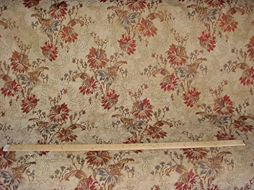 64RT15 - Floral Leaf Scroll Damask Tapestry Chenille - To the Trade / Designer Upholstery Drapery Fabric - By the Yard (Kravet Floral Tapestry Upholstery Fabric)