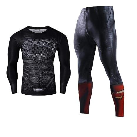 V1 Clothing CO Superman Ropa Deportiva De Manga Larga Traje ...