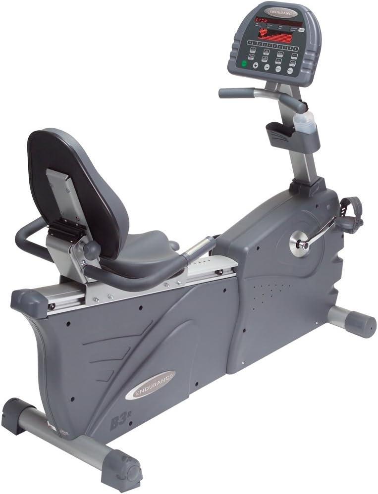 Endurance B3R Self generación reclinado bicicleta estática: Amazon ...